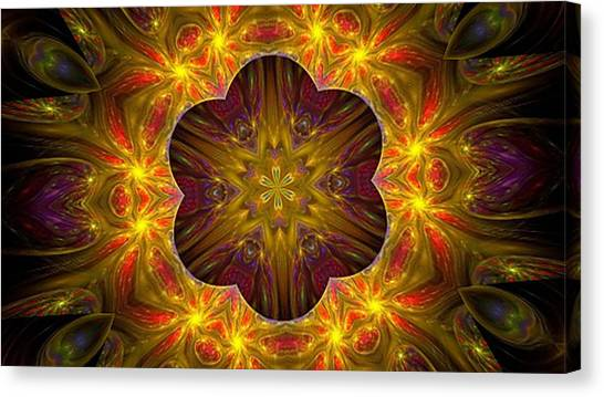 Purple Bliss Kaleidoscope Canvas Print