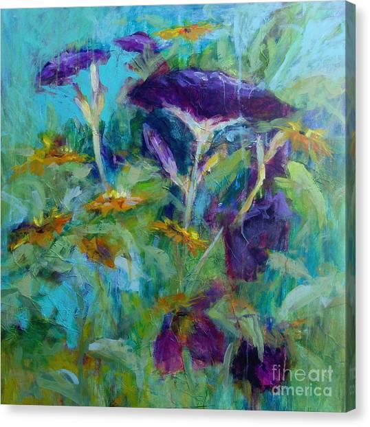 Purple Blooms Canvas Print by Virginia Dauth