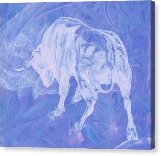 Purple Bull Negative Canvas Print
