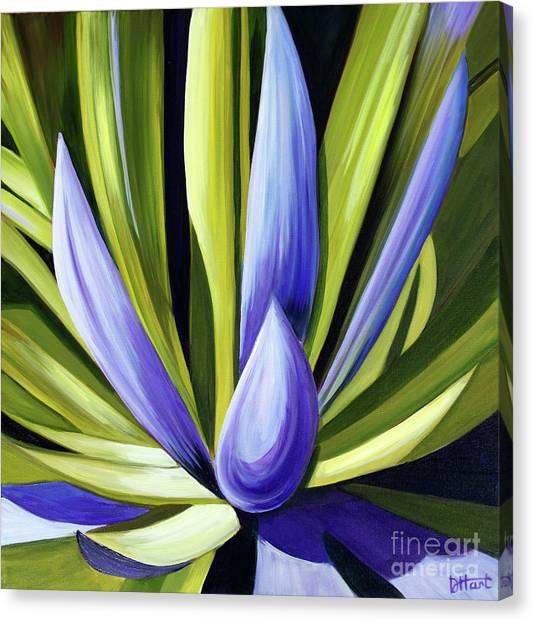 Purple Cactus Canvas Print