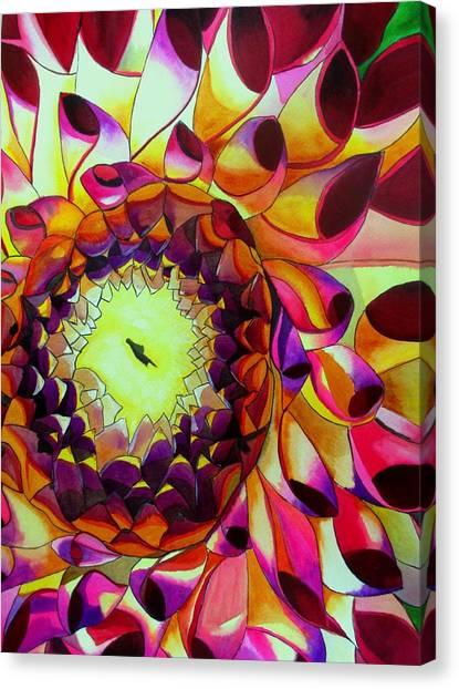 Purple Dahlia Canvas Print by Sacha Grossel