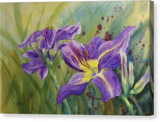 Purple Day Lily Canvas Print