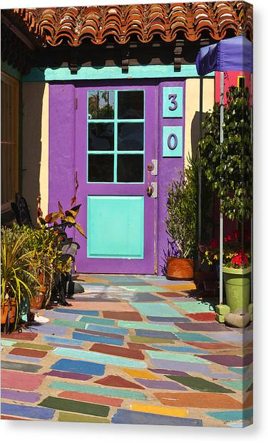Pavers Canvas Print - Purple Door by Art Block Collections