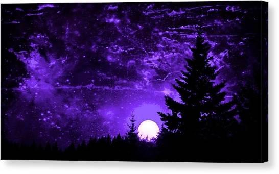 Purple Fantasy Sunset Canvas Print