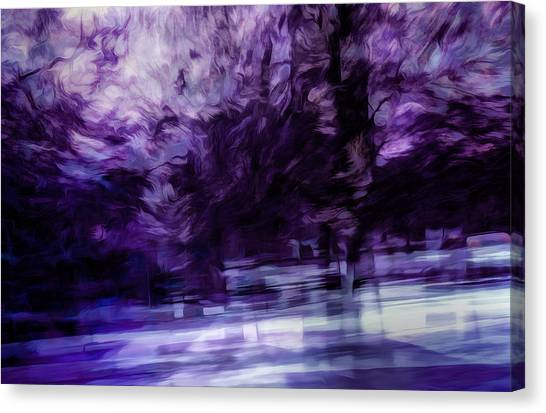 Night Canvas Print - Purple Fire by Scott Norris