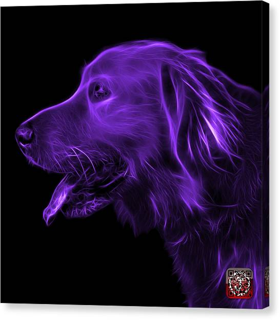 Purple Golden Retriever - 4047 F Canvas Print
