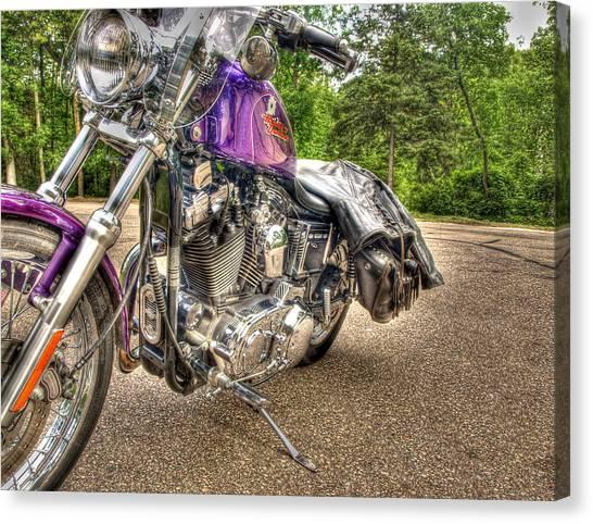 Purple Harley Canvas Print