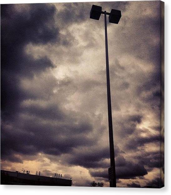 Rainclouds Canvas Print - #purple #haze #clouds #lightpost by Shawn Who