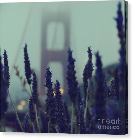 California Landscape Art Canvas Print - Purple Haze Daze by Jennifer Ramirez