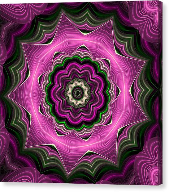 Purple Haze Kaleidoscope Canvas Print