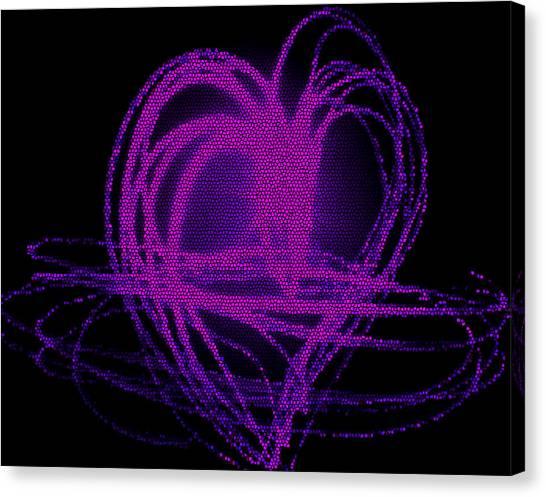 Purple Heart Canvas Print by Aya Murrells