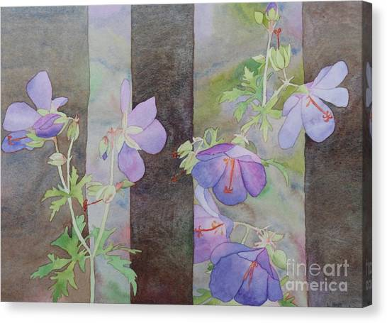 Purple Ivy Geranium Canvas Print