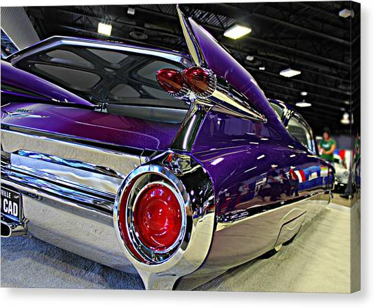 Purple Kustom Kadillac Canvas Print