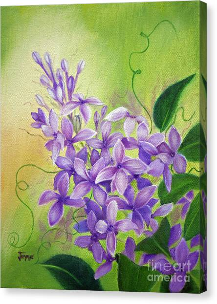Purple Lilacs Canvas Print