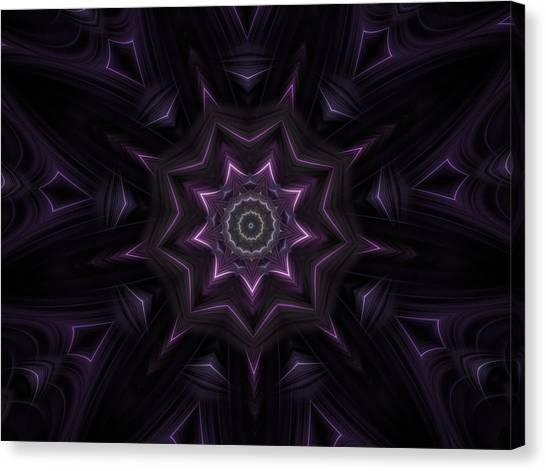 Purple Majestry Kaleidoscope Canvas Print
