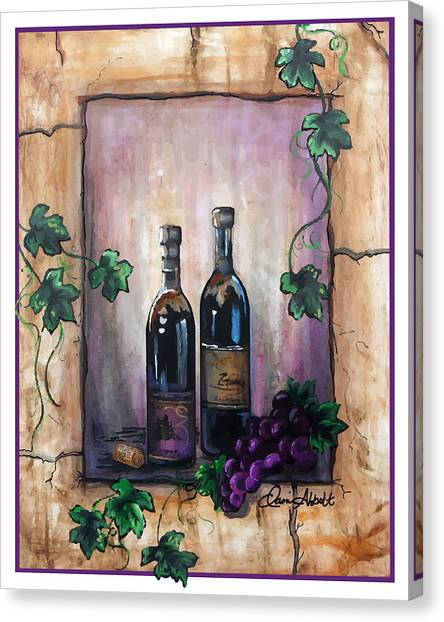 Hazy Purple Memories Canvas Print