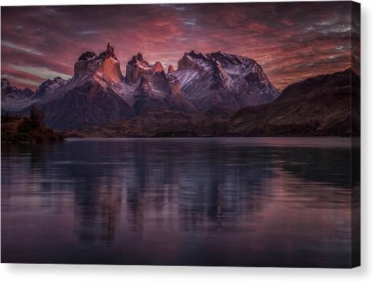 Chilean Canvas Print - Purple Mirroring by Peter Svoboda, Mqep