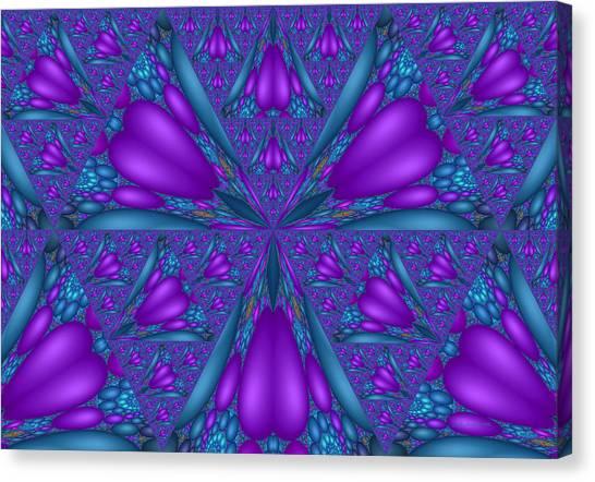 Purple Mixed Fractal Flower Canvas Print