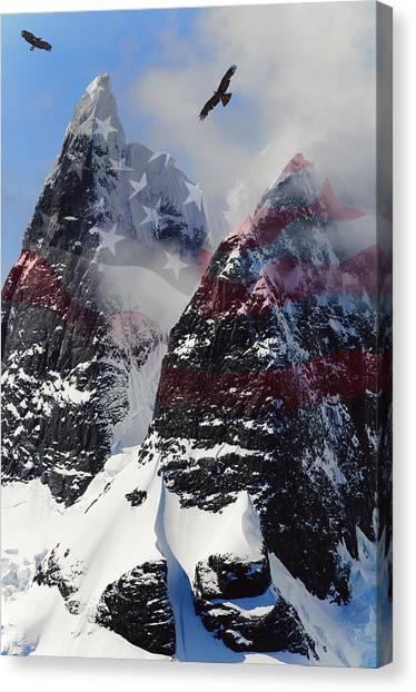K2 Canvas Print - Purple Mountain Majesties by Daniel Hagerman