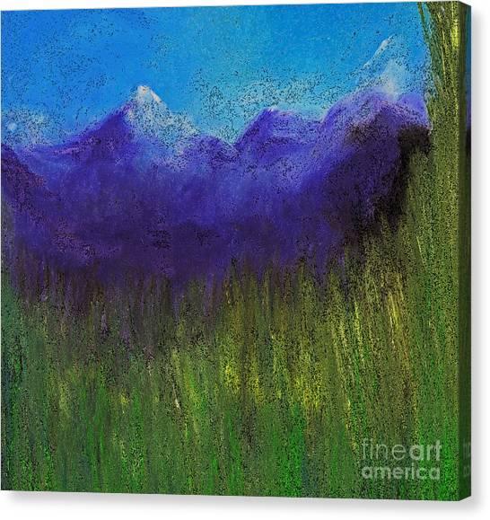 Purple Mountains By Jrr Canvas Print