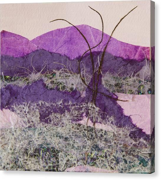 Purple Mountains Canvas Print by Pamela Ramey Tatum