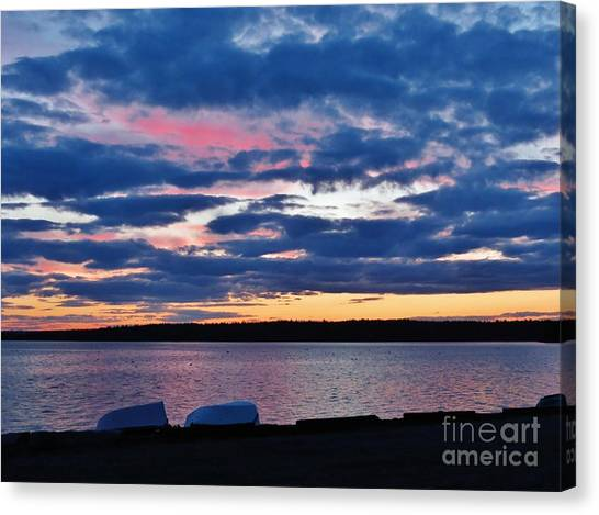 Purple Night Canvas Print