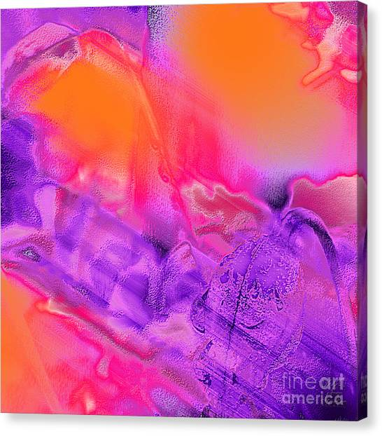 Purple Orange Pink Abstract Canvas Print