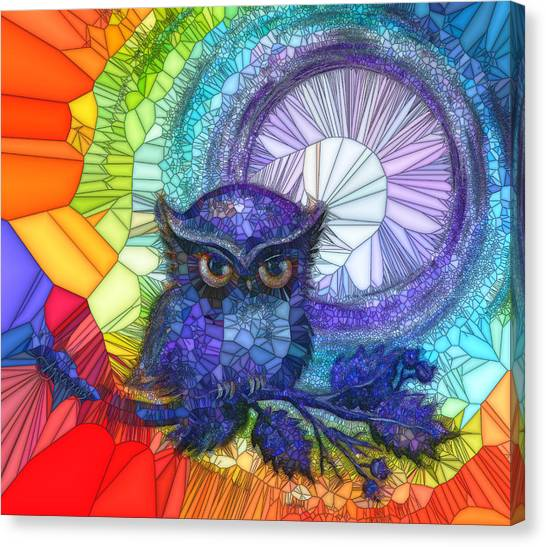 Owl Meditate Canvas Print