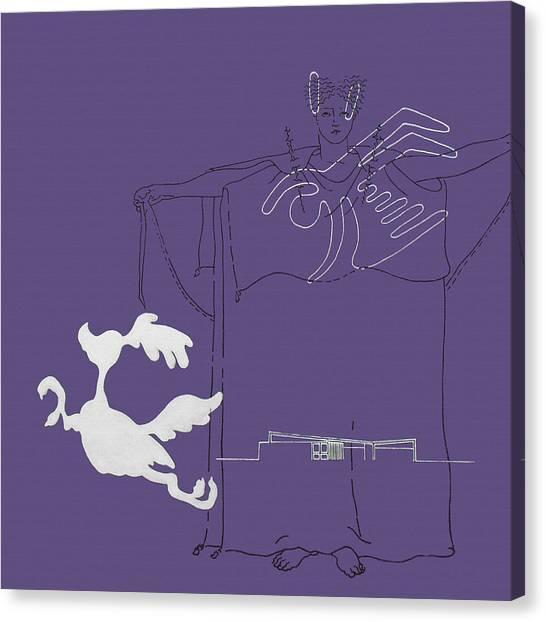 Purple Palm Springs Idyll Canvas Print
