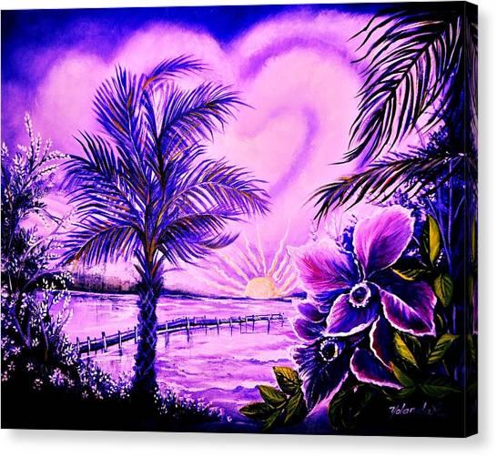 Purple Palm Canvas Print