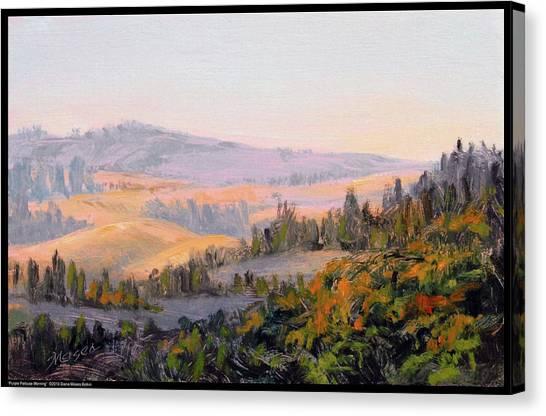 Purple Palouse Morning Canvas Print