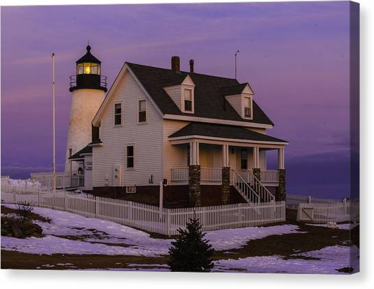 Purple Pemaquid Canvas Print
