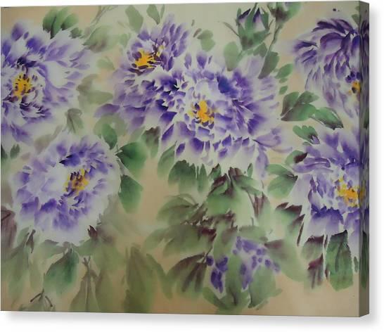 Purple Peony 012 Canvas Print