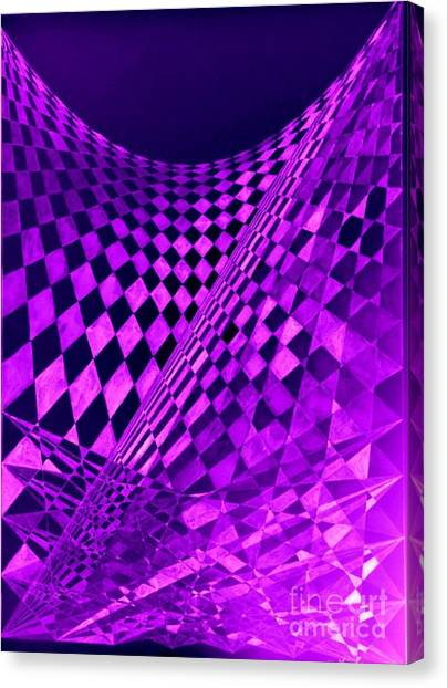 Purple Perspectives Canvas Print