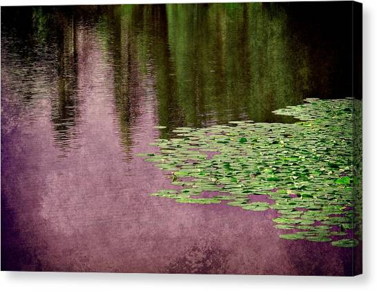 Purple Pond Reflections Canvas Print