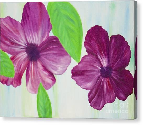 Purple Pop Flowers Canvas Print