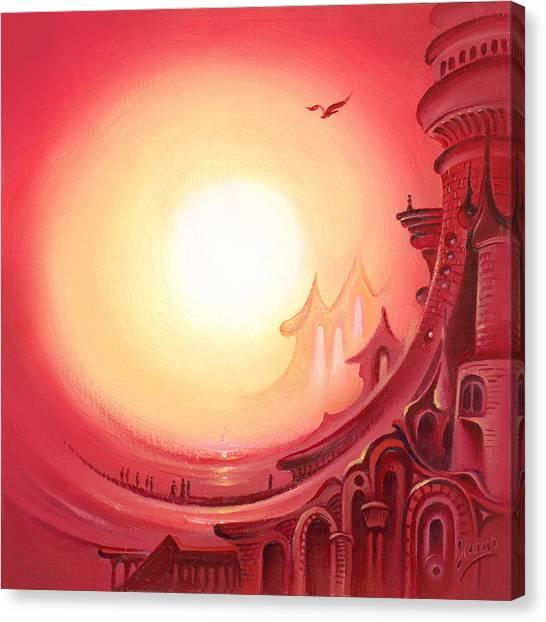 Purple Prayer Canvas Print