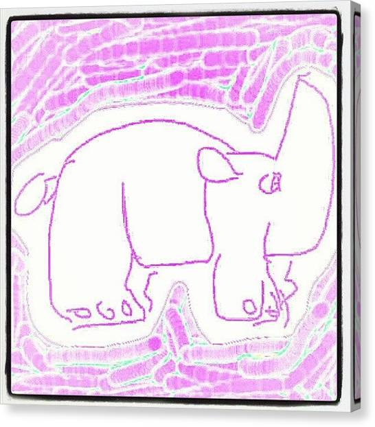 Rhinos Canvas Print - #purple #rhino #sketchpad by Nuno Marques