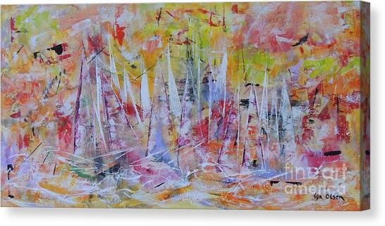 Purple Sailing Canvas Print