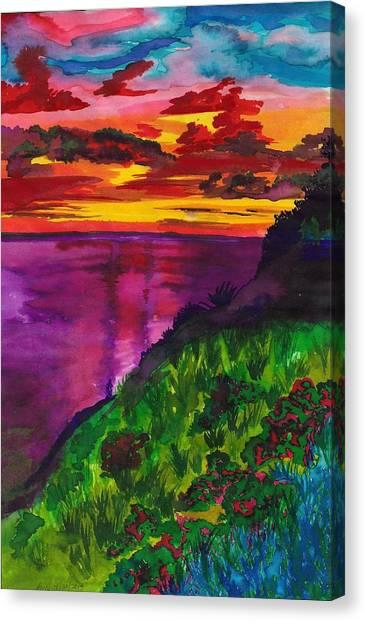 Purple Seas Canvas Print