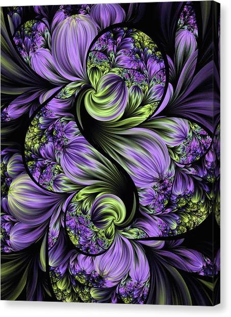 Purple Silk Flowers Canvas Print