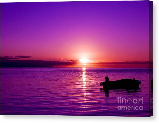 Canvas Print featuring the photograph Purple Sunrise by Yew Kwang