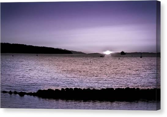Purple Sunset At English Bay Canvas Print