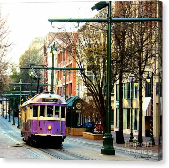 Purple Trolley Canvas Print
