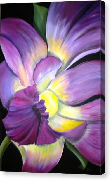 Purple Tropical Canvas Print