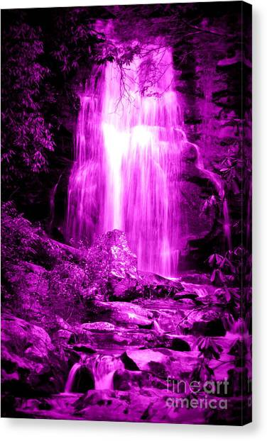 Purple Waterfall Canvas Print