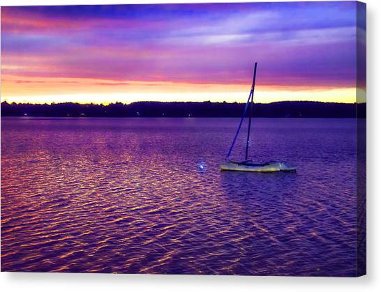 Purple Waters  Canvas Print
