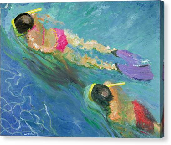 Flipper Canvas Print - Pursuit, 2005 Oil On Board by William Ireland