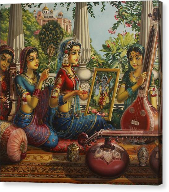 Temple Canvas Print - Purva Raga by Vrindavan Das