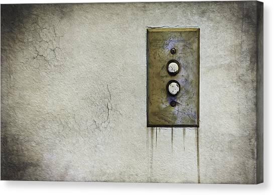 Architectural Detail Canvas Print - Push Button by Scott Norris